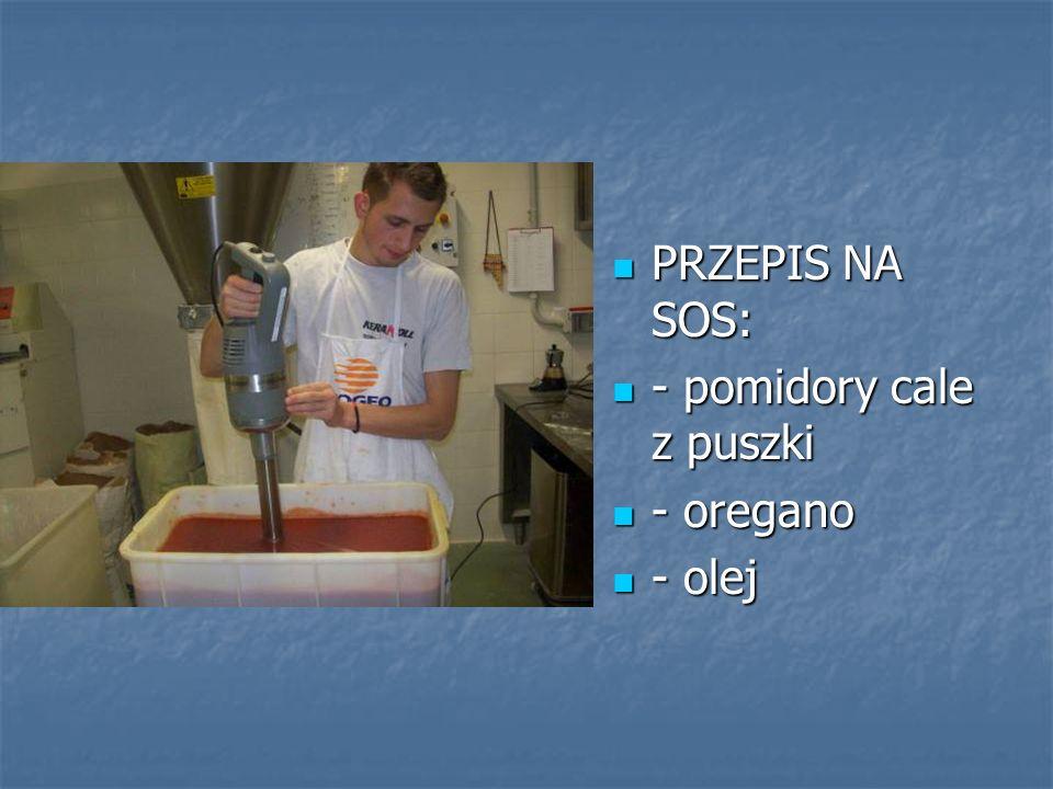 PRZEPIS NA SOS: PRZEPIS NA SOS: - pomidory cale z puszki - pomidory cale z puszki - oregano - oregano - olej - olej