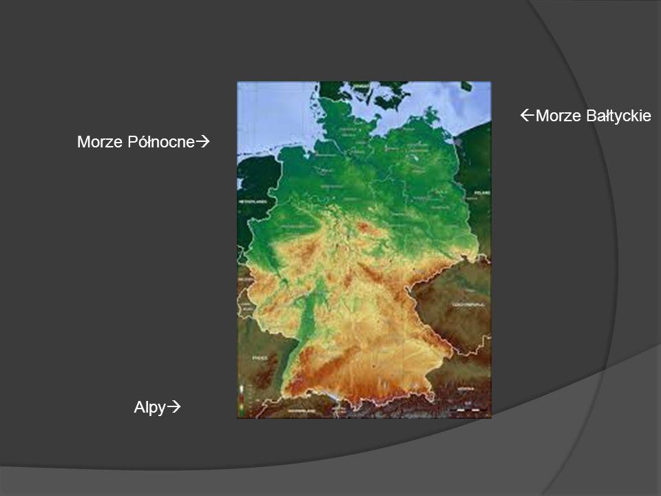 Alpy Morze Północne Morze Bałtyckie