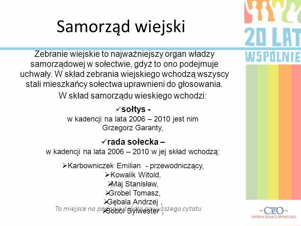 To miejsce na podanie źródła powyższego cytatu Dzierdziówka – moja wieś Niewątpliwie w ciągu ostatnich 20 lat wiele zmieniło się w mojej miejscowości.