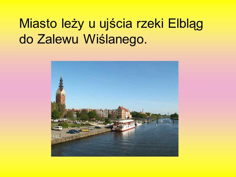 Miasto leży u ujścia rzeki Elbląg do Zalewu Wiślanego.