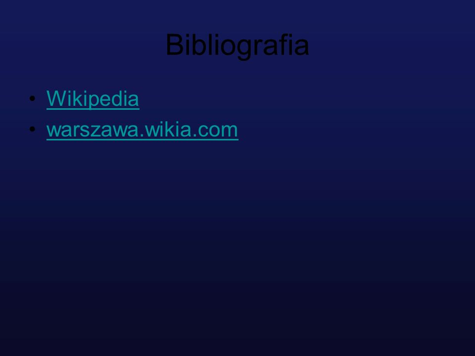 Bibliografia Wikipedia warszawa.wikia.com
