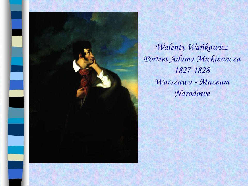 Portret Adama Mickiewicza. 1856. Olej na płótnie. Muzeum Literatury Warszawa