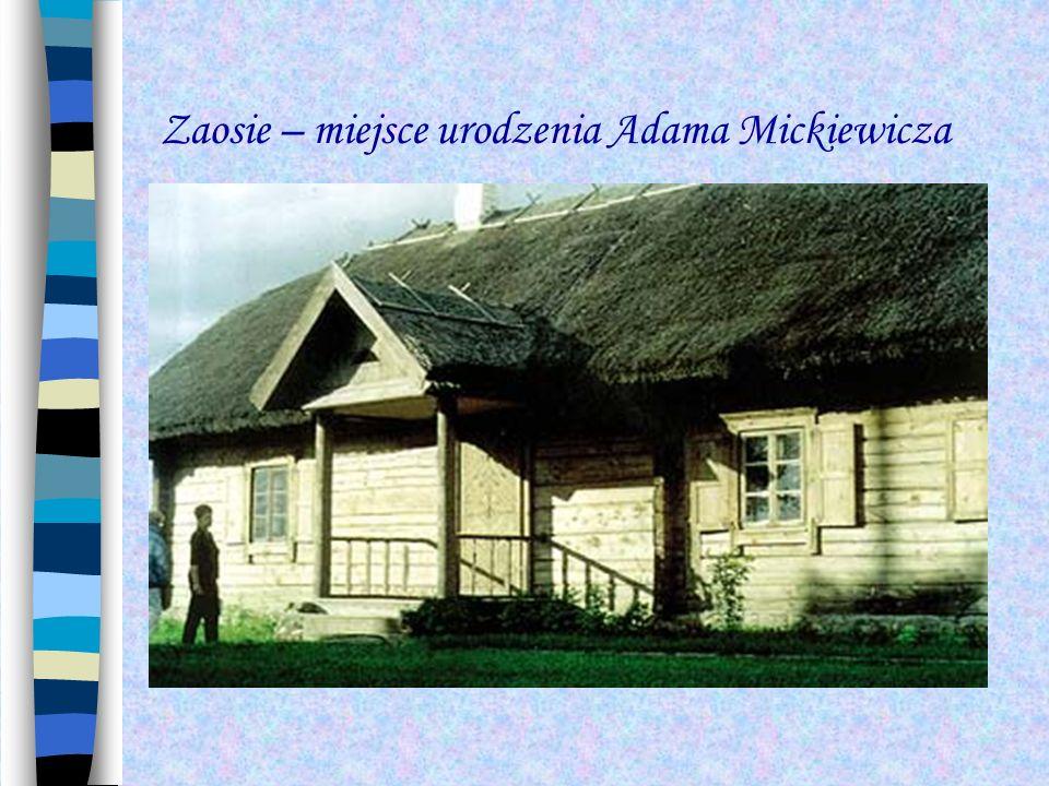 Nowogródek to tu wychował się Adam Mickiewicz.