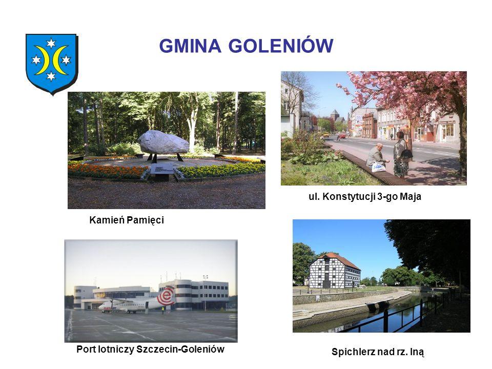 GMINA GOLENIÓW Kamień Pamięci Port lotniczy Szczecin-Goleniów ul. Konstytucji 3-go Maja Spichlerz nad rz. Iną
