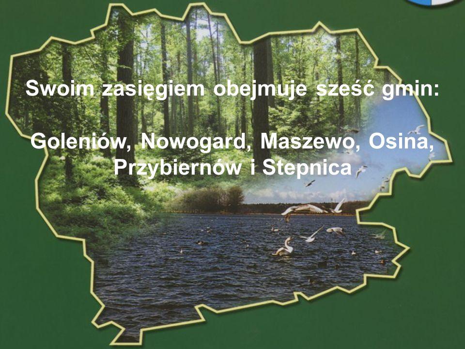POWIAT GOLENIOWSKI Swoim zasięgiem obejmuje sześć gmin: Goleniów, Nowogard, Maszewo, Osina, Przybiernów i Stepnica