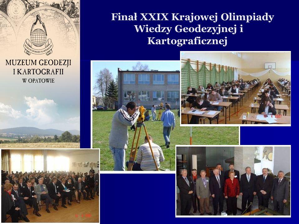 , Finał XXIX Krajowej Olimpiady Wiedzy Geodezyjnej i Kartograficznej