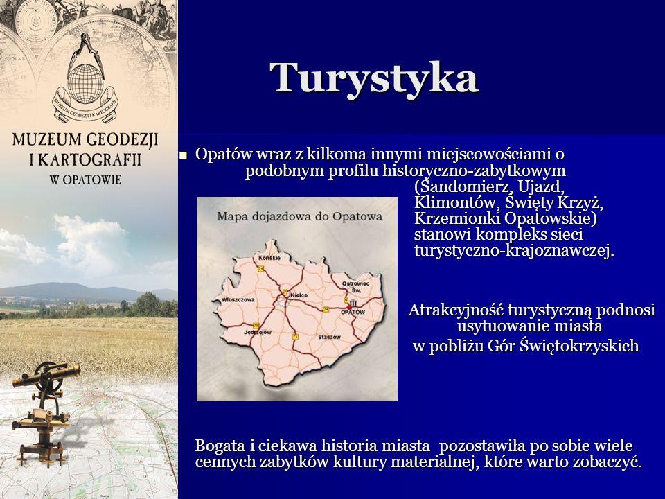 Turystyka Turystyka Opatów wraz z kilkoma innymi miejscowościami o podobnym profilu historyczno-zabytkowym (Sandomierz, Ujazd, Klimontów, Święty Krzyż