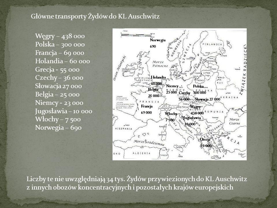 Węgry – 438 000 Polska – 300 000 Francja – 69 000 Holandia – 60 000 Grecja - 55 000 Czechy – 36 000 Słowacja 27 000 Belgia – 25 000 Niemcy - 23 000 Ju