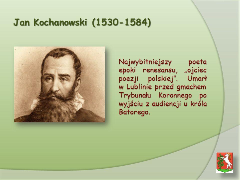 Jan Kochanowski (1530-1584) Najwybitniejszy poeta epoki renesansu, ojciec poezji polskiej.