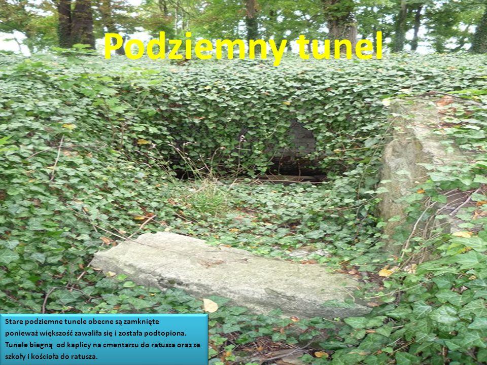 Podziemny tunel Stare podziemne tunele obecne są zamknięte ponieważ większość zawaliła się i została podtopiona. Tunele biegną od kaplicy na cmentarzu
