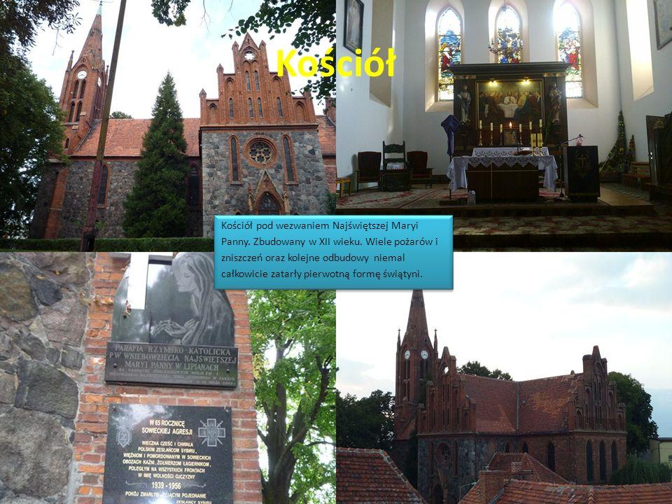 Kościół Kościół pod wezwaniem Najświętszej Maryi Panny. Zbudowany w XII wieku. Wiele pożarów i zniszczeń oraz kolejne odbudowy niemal całkowicie zatar