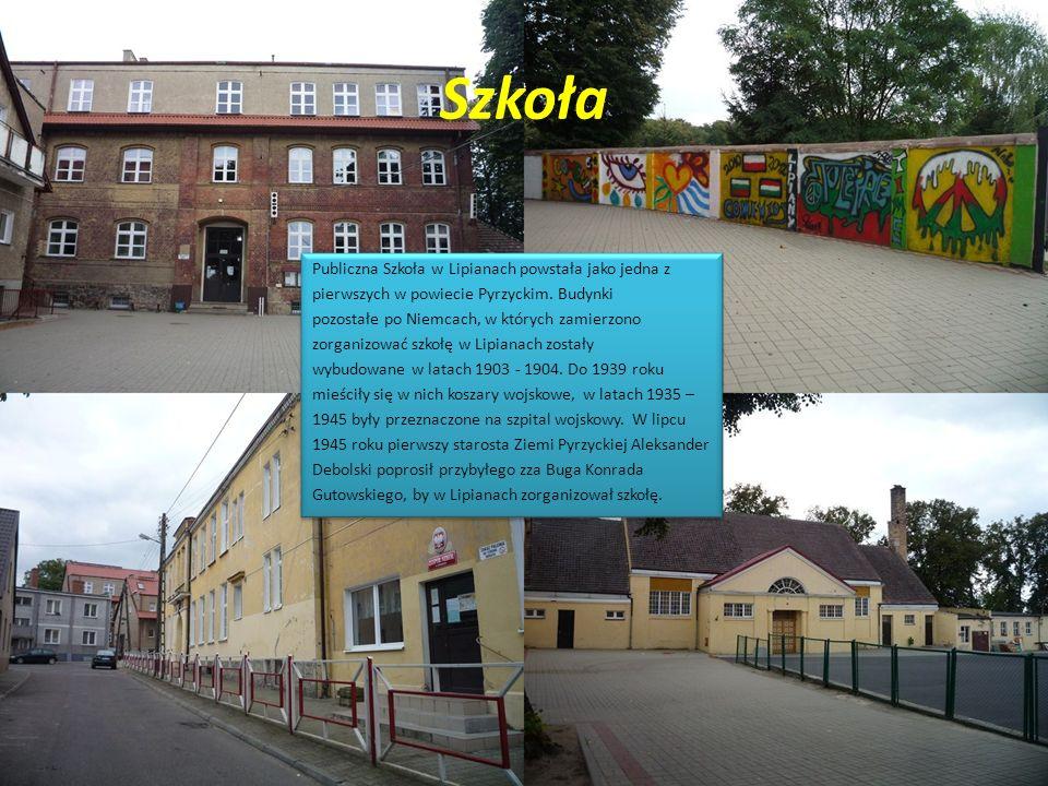 Szkoła Publiczna Szkoła w Lipianach powstała jako jedna z pierwszych w powiecie Pyrzyckim. Budynki pozostałe po Niemcach, w których zamierzono zorgani