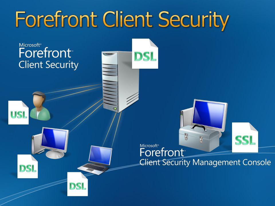 Agent Microsoft Forefront Client Security Ochrona przed złośliwym oprogramowaniem Microsoft Forefront Client Security Management Console - konsola do