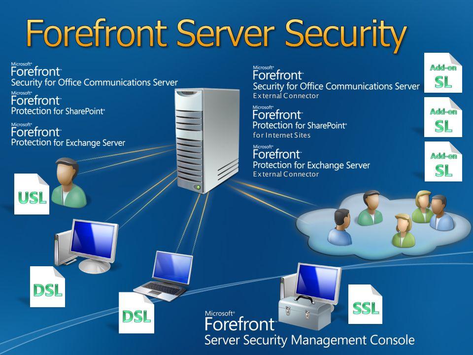 Microsoft Forefront Server Security Integruje wiele silników skanujących w jednym rozwiązaniu Microsoft Forefront Server Security Management Console