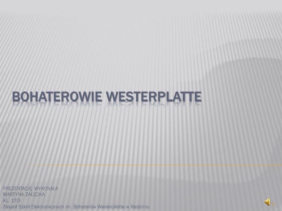 PREZENTACJĘ WYKONAŁA: MARTYNA ZAŁĘCKA KL. 1TI3 Zespół Szkół Elektronicznych im. Bohaterów Westerplatte w Radomiu 1