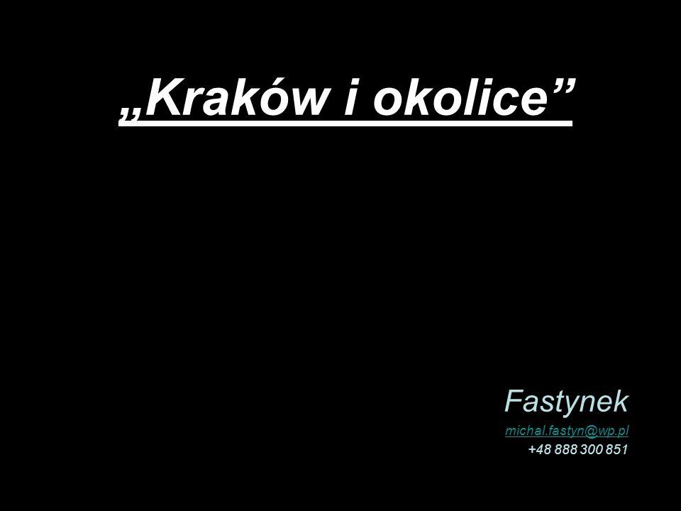 Kraków i okolice Fastynek michal.fastyn@wp.pl +48 888 300 851
