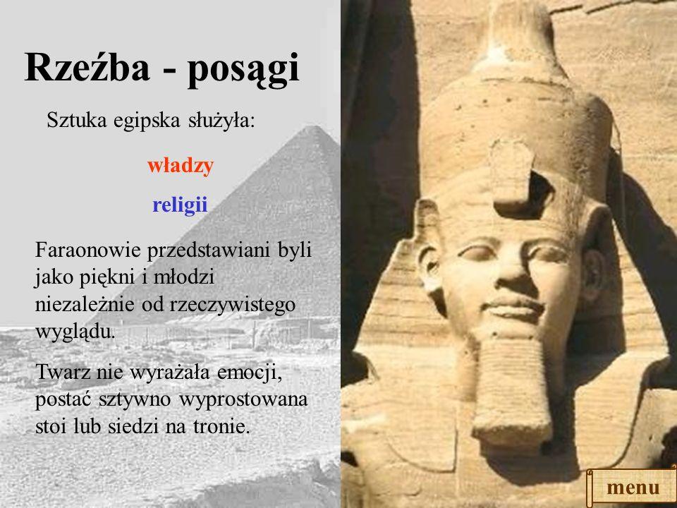 ŚWIĄTYNIE Do świątyni egipskiej prowadziła aleja sfinksów. Po obu stronach wejścia stały obeliski. Bramę do świątyni stanowiły dwa olbrzymie masywy ka