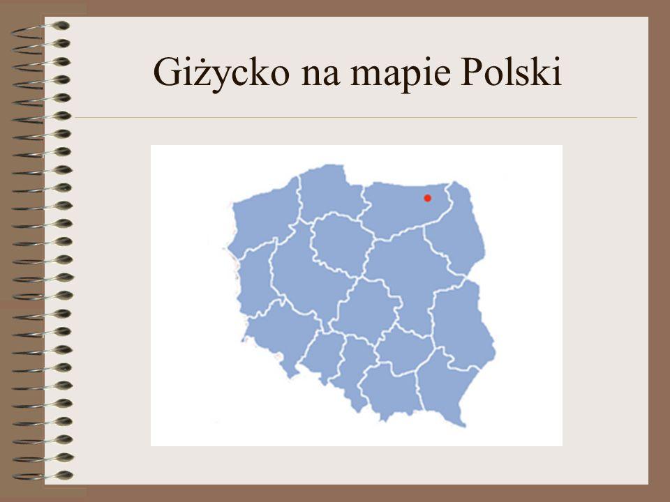Giżycko na mapie Polski