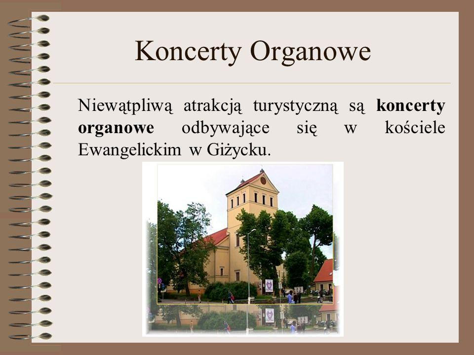 Koncerty Organowe Niewątpliwą atrakcją turystyczną są koncerty organowe odbywające się w kościele Ewangelickim w Giżycku.