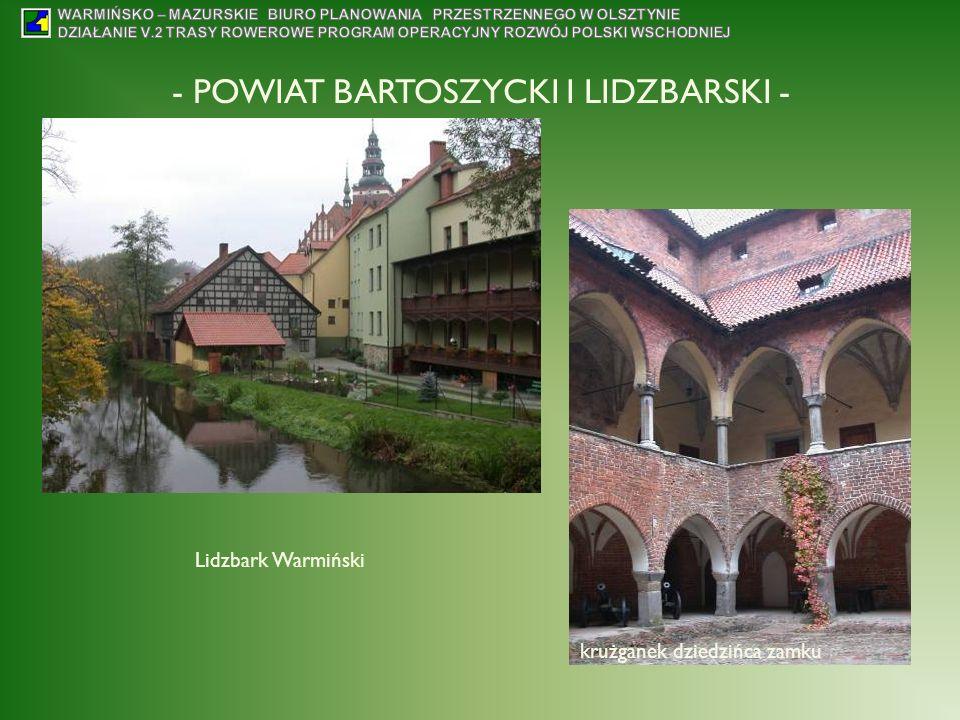 - POWIAT BARTOSZYCKI I LIDZBARSKI - Lidzbark Warmiński krużganek dziedzińca zamku
