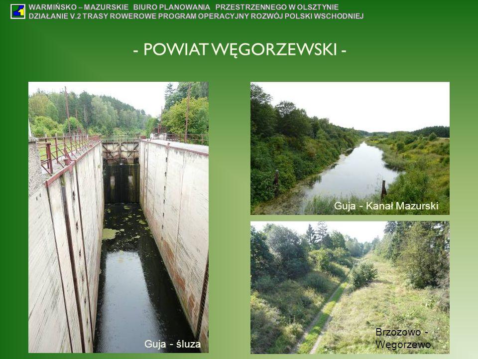Guja - śluza Guja - Kanał Mazurski Brzozowo - Węgorzewo