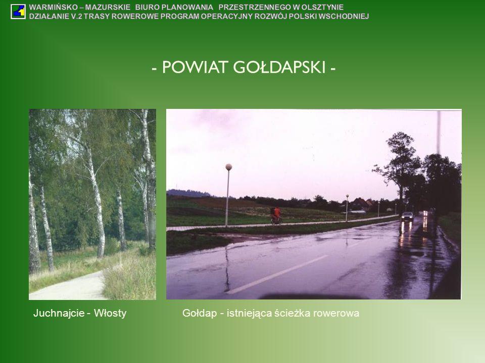 Juchnajcie - WłostyGołdap - istniejąca ścieżka rowerowa