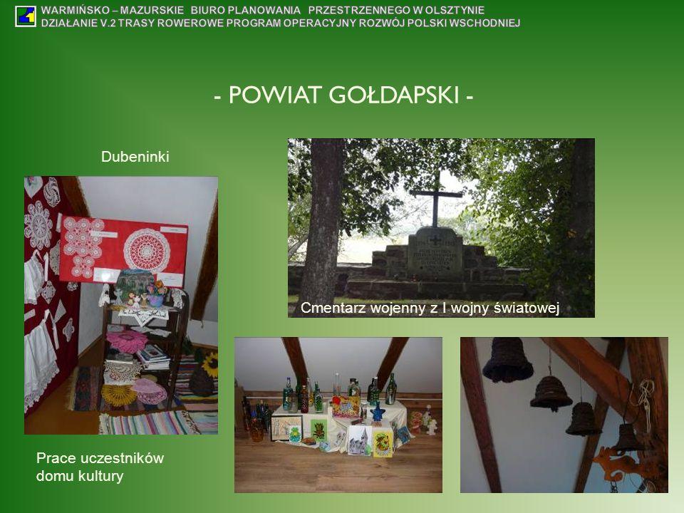 - POWIAT GOŁDAPSKI - Dubeninki Prace uczestników domu kultury Cmentarz wojenny z I wojny światowej