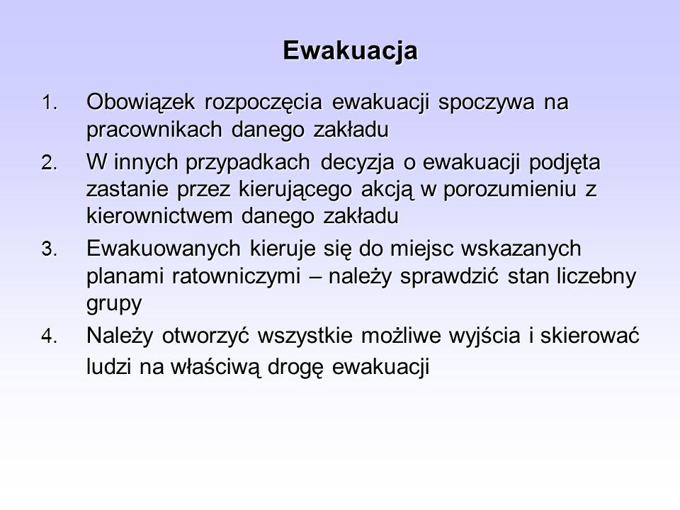 Zasady prowadzenia ewakuacji mienia 4.