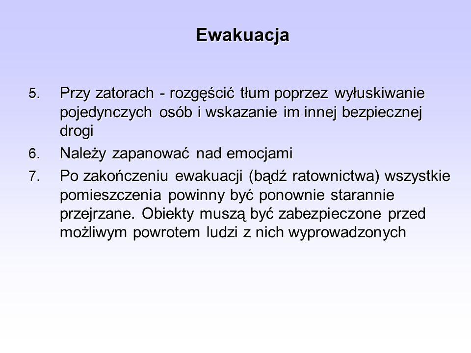 Zasady prowadzenia ewakuacji mienia 5.