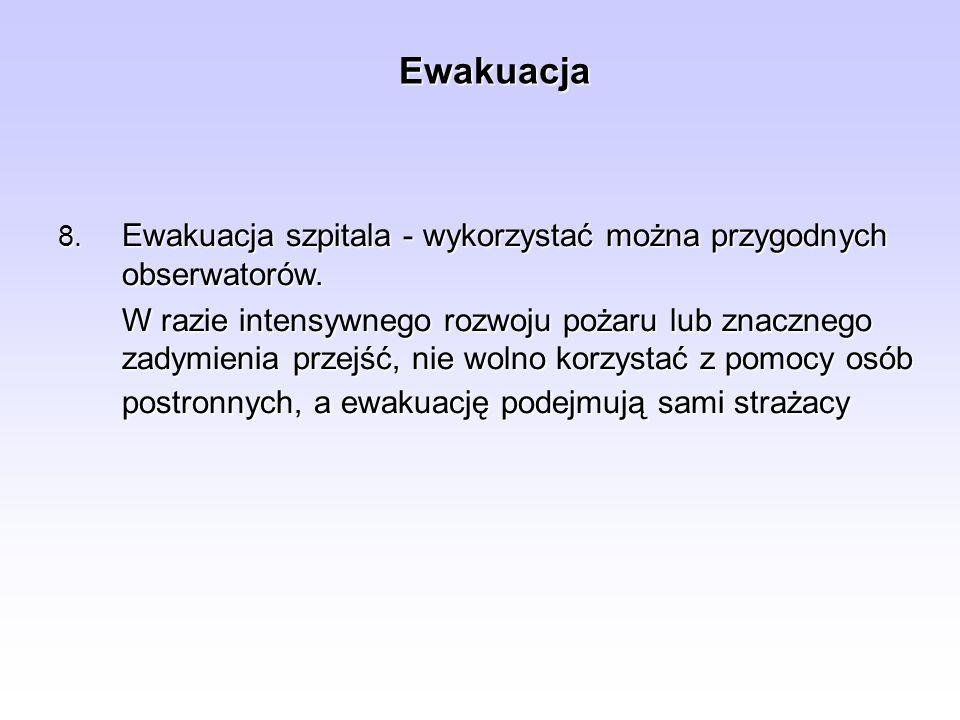 Zasady prowadzenia ewakuacji mienia 6.