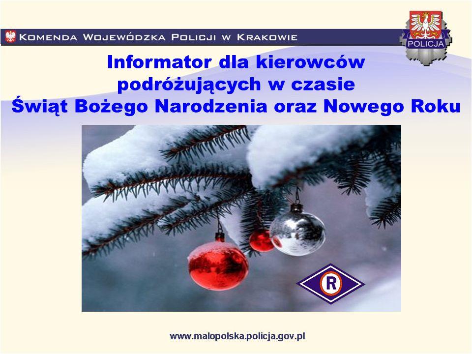 Informator dla kierowców podróżujących w czasie Świąt Bożego Narodzenia oraz Nowego Roku
