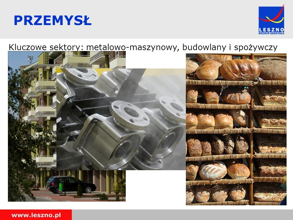 PRZEMYSŁ Kluczowe sektory: metalowo-maszynowy, budowlany i spożywczy