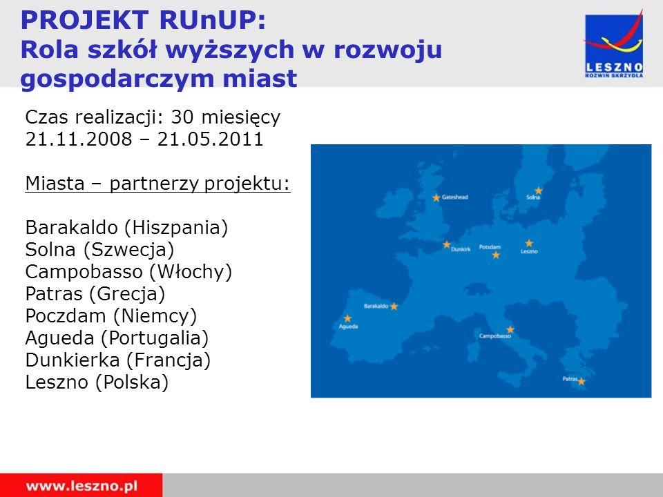Czas realizacji: 30 miesięcy 21.11.2008 – 21.05.2011 Miasta – partnerzy projektu: Barakaldo (Hiszpania) Solna (Szwecja) Campobasso (Włochy) Patras (Gr