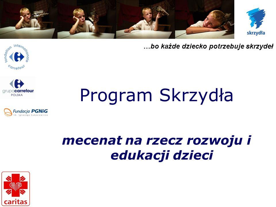 …bo każde dziecko potrzebuje skrzydeł Program Skrzydła mecenat na rzecz rozwoju i edukacji dzieci