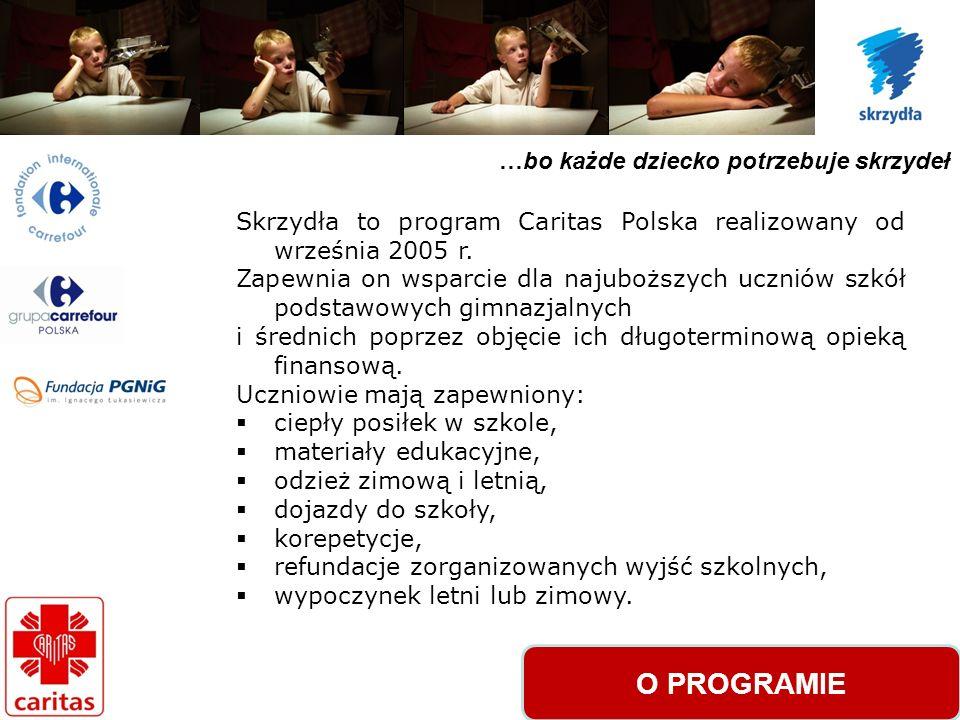 …bo każde dziecko potrzebuje skrzydeł Skrzydła to program Caritas Polska realizowany od września 2005 r.