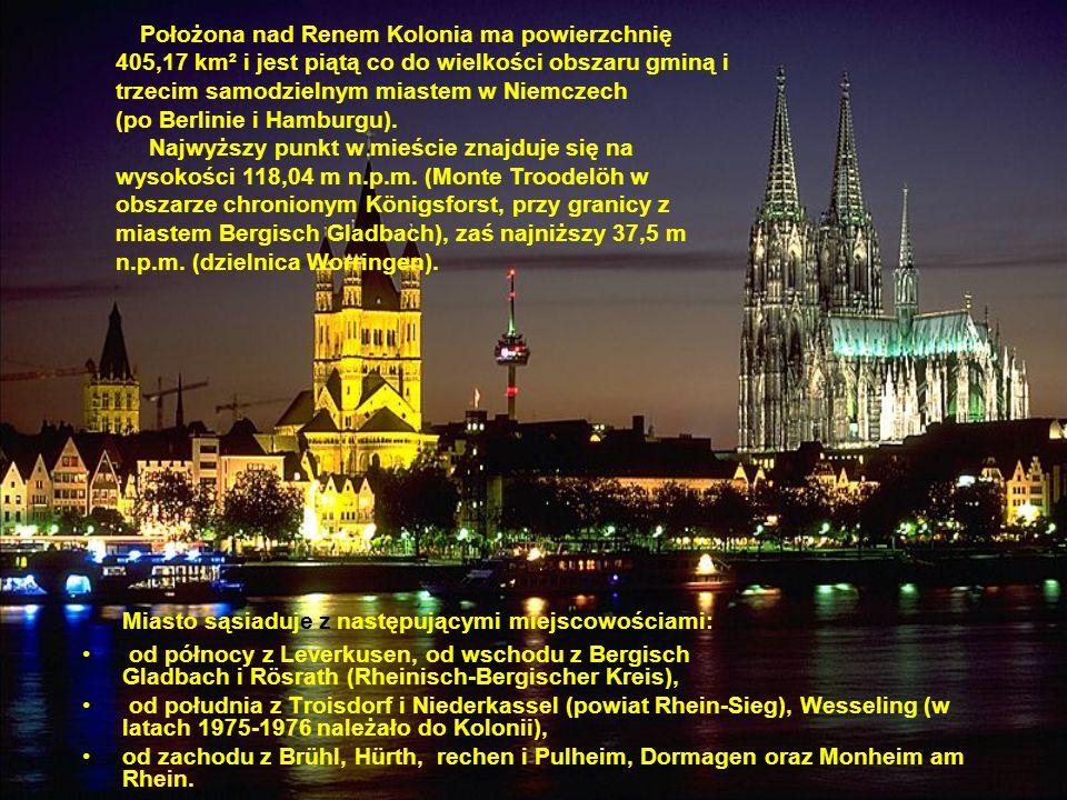 Miasto sąsiaduje z następującymi miejscowościami: od północy z Leverkusen, od wschodu z Bergisch Gladbach i Rösrath (Rheinisch-Bergischer Kreis), od p