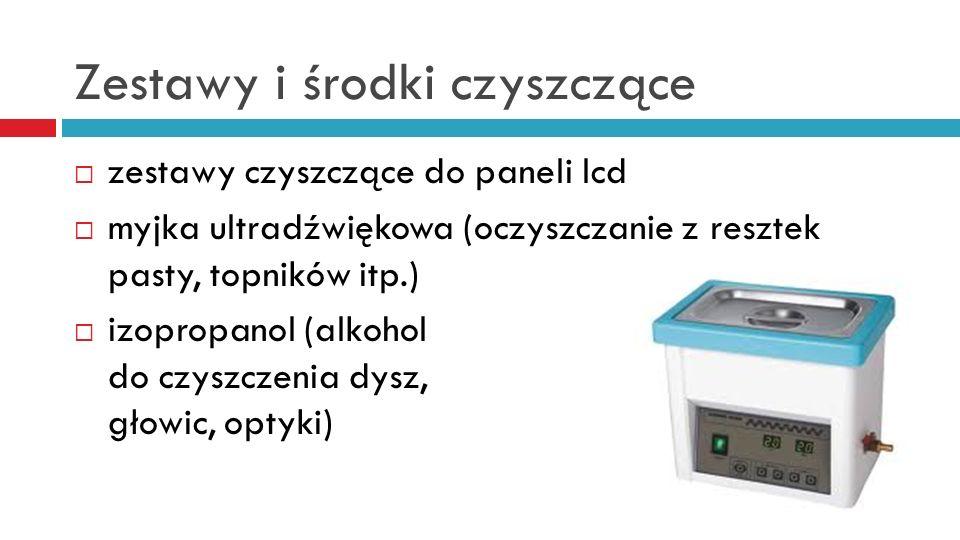 Zestawy i środki czyszczące zestawy czyszczące do paneli lcd myjka ultradźwiękowa (oczyszczanie z resztek pasty, topników itp.) izopropanol (alkohol do czyszczenia dysz, głowic, optyki)