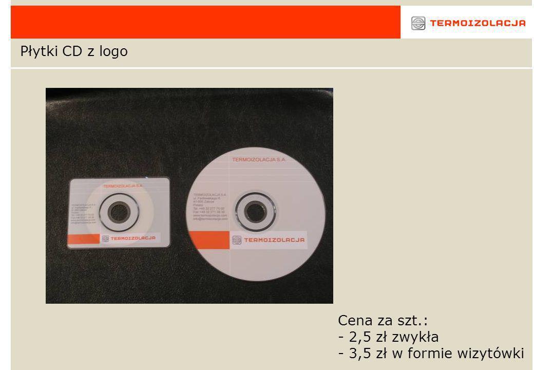 Płytki CD z logo Cena za szt.: - 2,5 zł zwykła - 3,5 zł w formie wizytówki