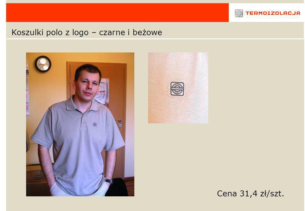 Koszulki polo z logo – czarne i beżowe Cena 31,4 zł/szt.