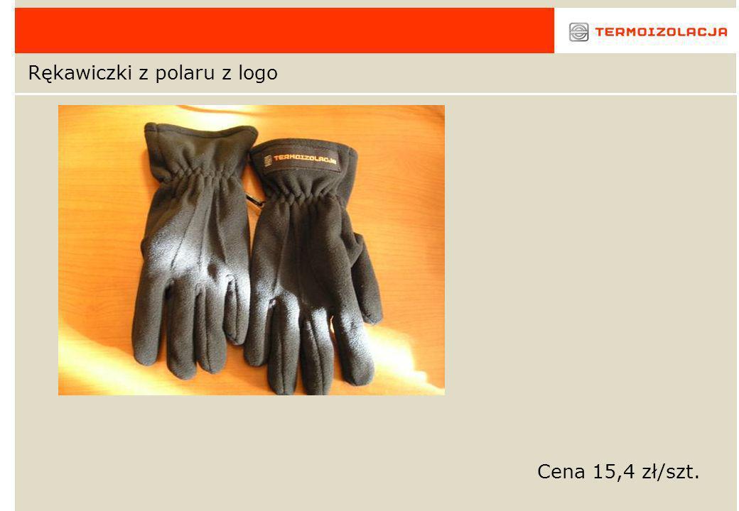 Rękawiczki z polaru z logo Cena 15,4 zł/szt.