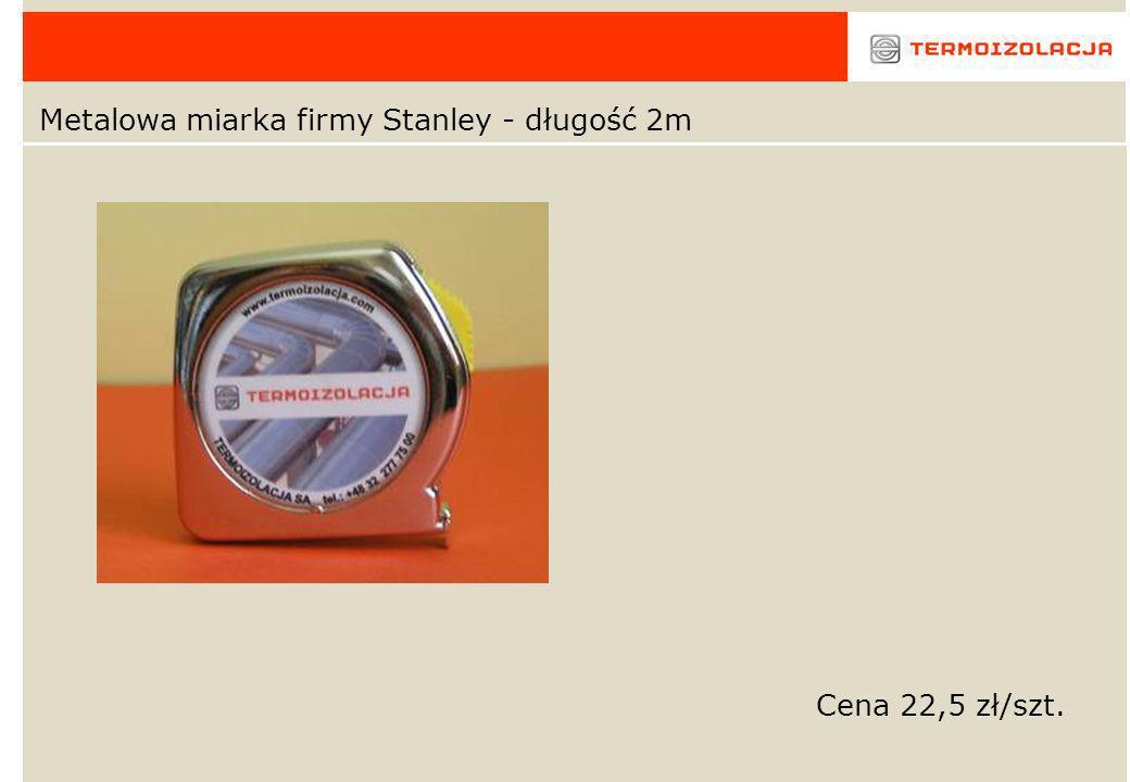 Metalowa miarka firmy Stanley - długość 2m Cena 22,5 zł/szt.