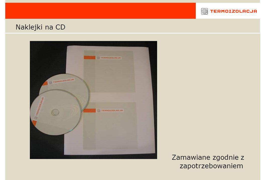 Naklejki na CD Zamawiane zgodnie z zapotrzebowaniem