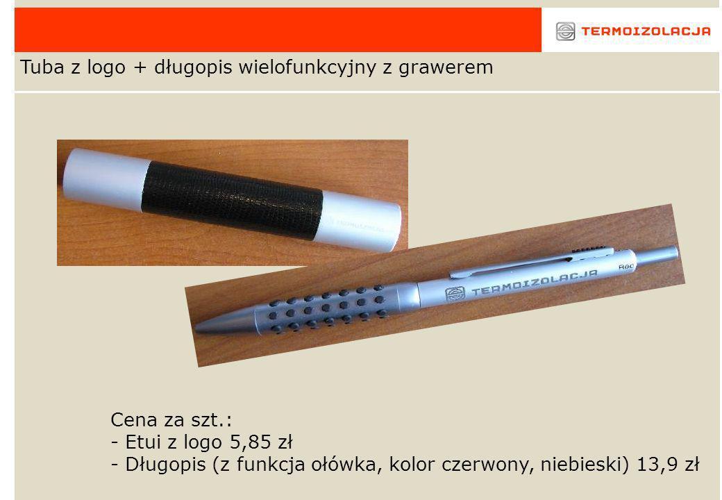 Bloczek (kartki z danymi i logo firmy) Cena 4,18 zł/szt.