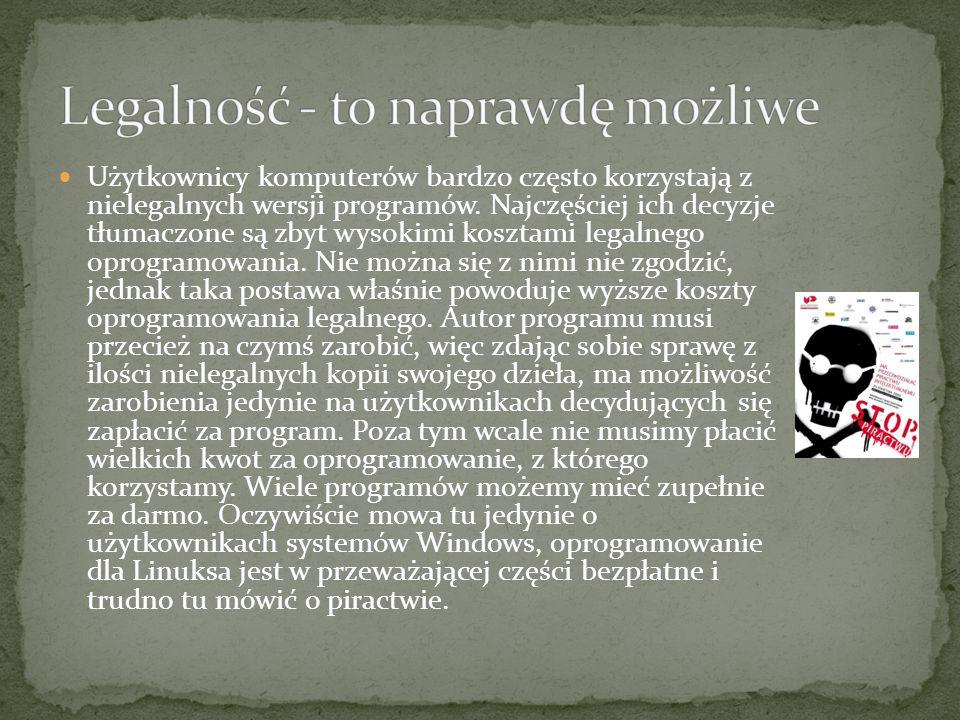 Użytkownicy komputerów bardzo często korzystają z nielegalnych wersji programów.