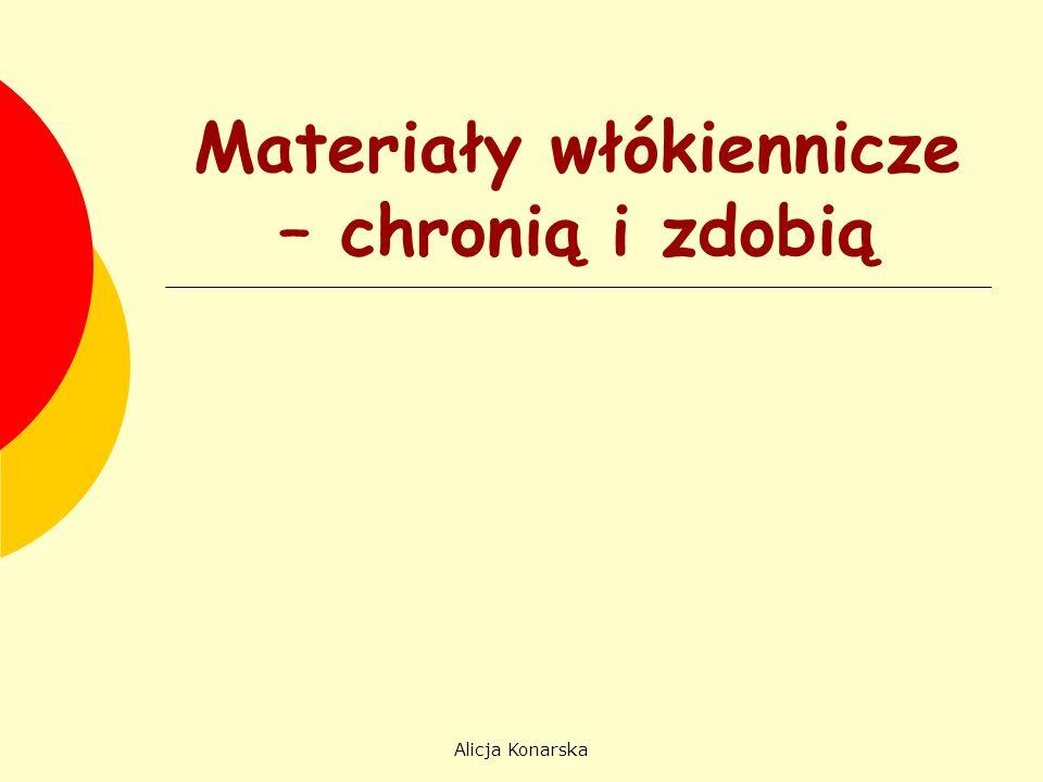 Alicja Konarska O czym będziemy mówić.Historia powstawania materiałów włókienniczych.