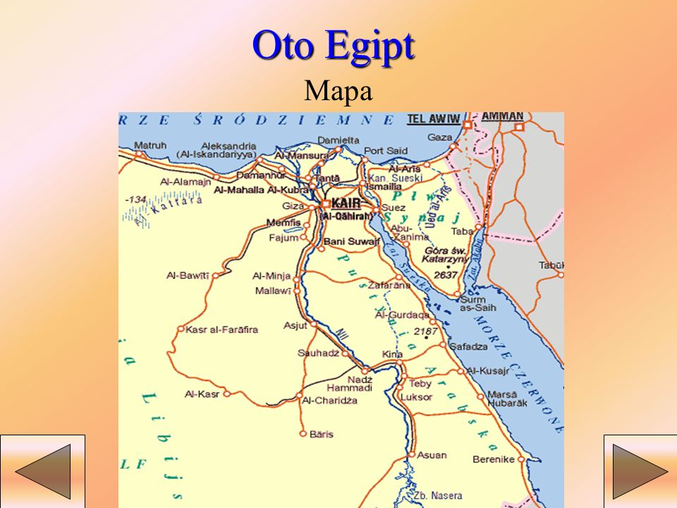 Oto Egipt Mapa