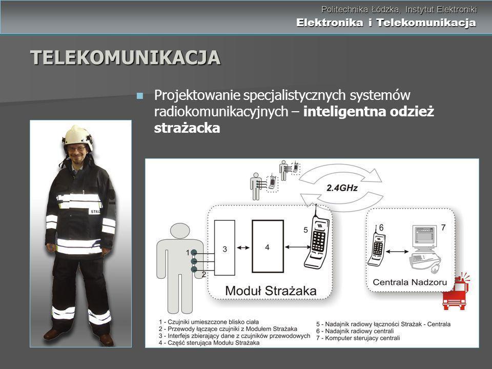 Politechnika Łódzka, Instytut Elektroniki Elektronika i Telekomunikacja Politechnika Łódzka, Instytut Elektroniki Elektronika i Telekomunikacja Projek