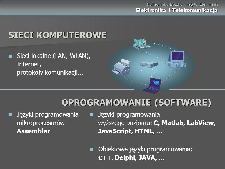 Politechnika Łódzka, Instytut Elektroniki Elektronika i Telekomunikacja Politechnika Łódzka, Instytut Elektroniki Elektronika i Telekomunikacja Języki