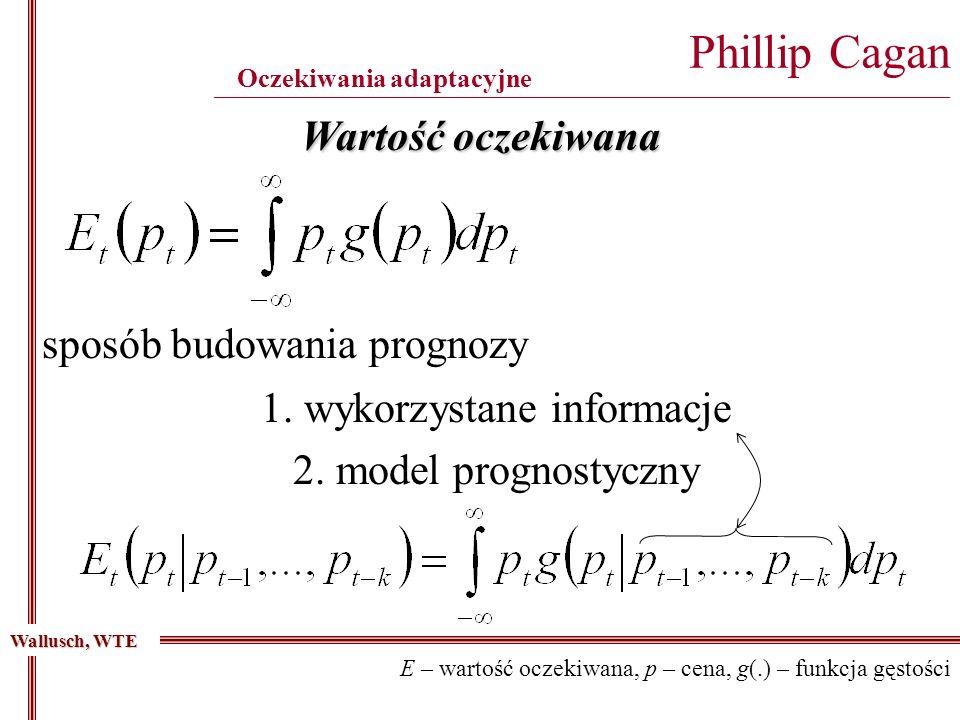Wartość oczekiwana sposób budowania prognozy 1.wykorzystane informacje 2.