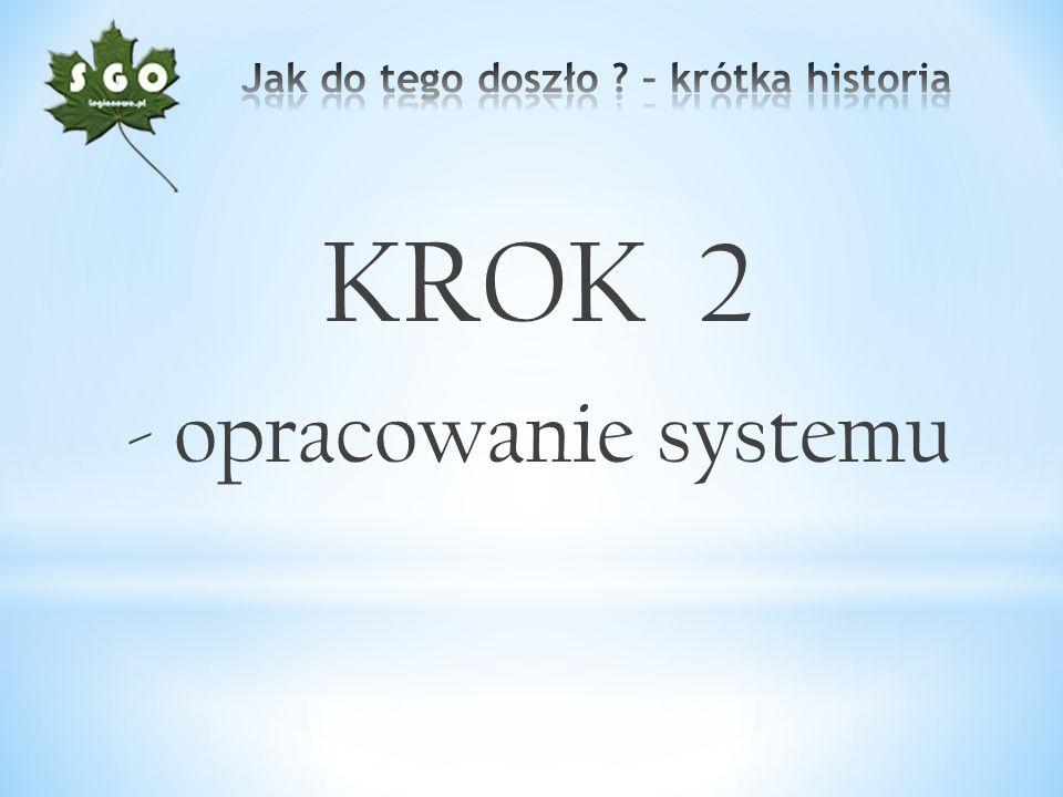 KROK 2 - opracowanie systemu